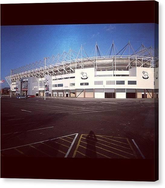 Soccer Canvas Print - Derby County Football Club! #derby by Ady Griggs
