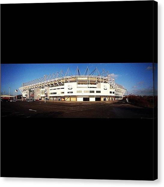 Soccer Canvas Print - Derby County Football Club #football by Ady Griggs