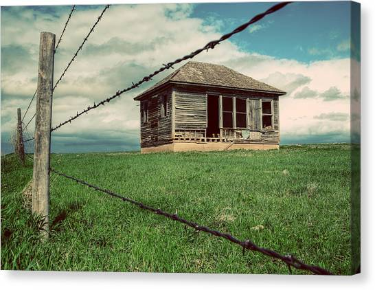Old Houses Canvas Print - Derelict House On The Plains by Thomas Zimmerman