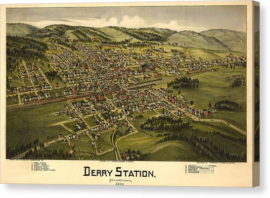 Derry Station Pennsylvania Canvas Print by Donna Leach