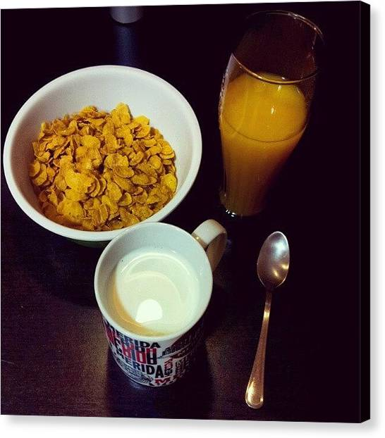 Milk Canvas Print - Desayuno by Jorge Vargas