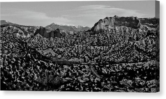 Desert And The Truchas Canvas Print