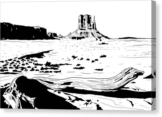 Texas Canvas Print - Desert by Giuseppe Cristiano