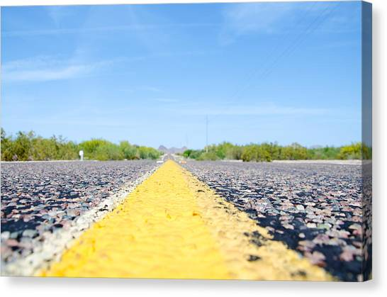 Desert Highway Canvas Print