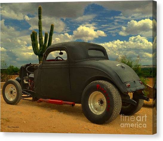 Desert Hot Rod Canvas Print