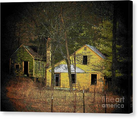 Deserted Cabins Canvas Print by Joyce Kimble Smith