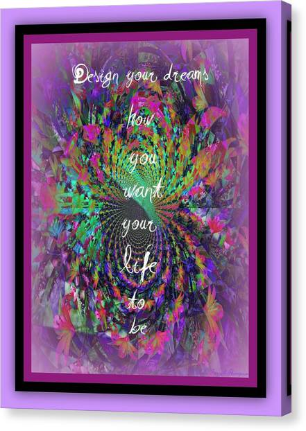 Design Your Dreams Canvas Print by Michelle Frizzell-Thompson
