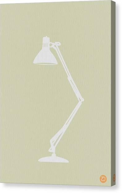 Desks Canvas Print - Desk Lamp by Naxart Studio