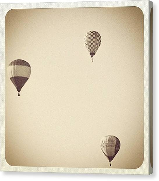 Hot Air Balloons Canvas Print - Destination Unknown by Laura Douglas