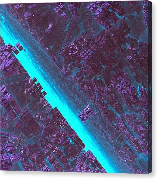 Fractal Canvas Print - Detail From Out Of The #blue by Jacob Bettany