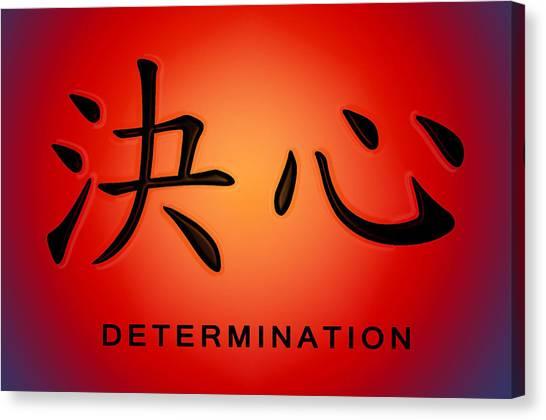 Determination Canvas Print