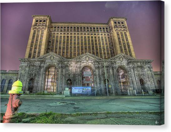 New York Red Bulls Canvas Print - Detroit's Michigan Central Station - Michigan Central Depot by Nicholas  Grunas