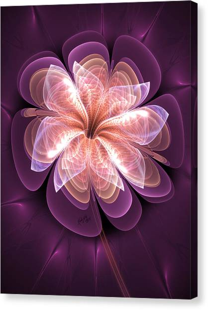 Diamond Dahlia Canvas Print