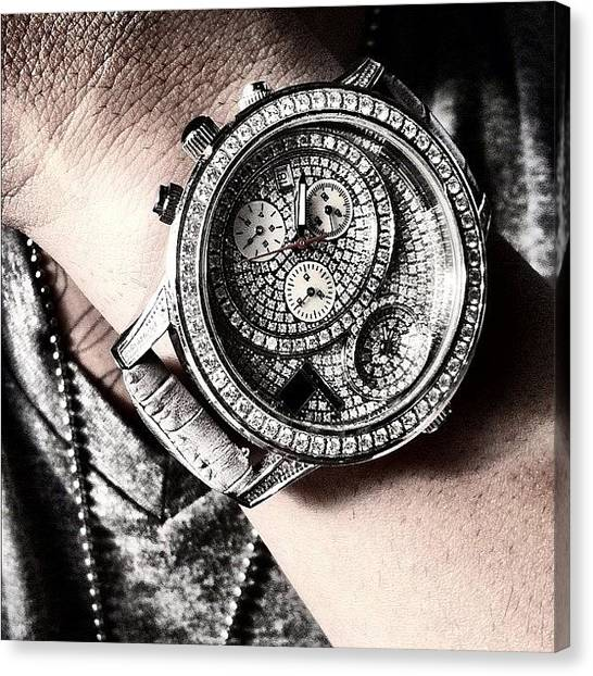 Watch Canvas Print - Diamond by Dylan Hotfire