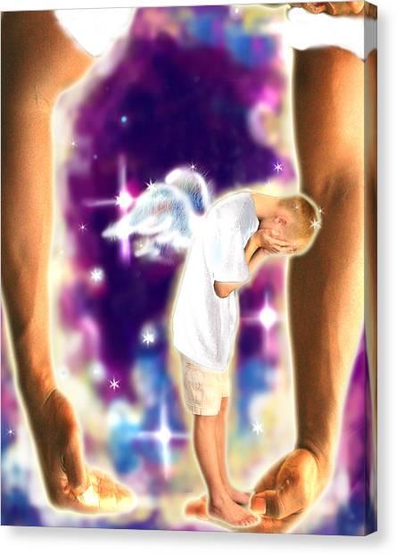 Diamond-meeks.angelic Canvas Print