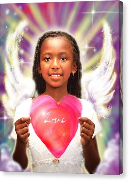 Diamond.angelic  Canvas Print