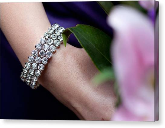 Diamonte Bracelet Canvas Print