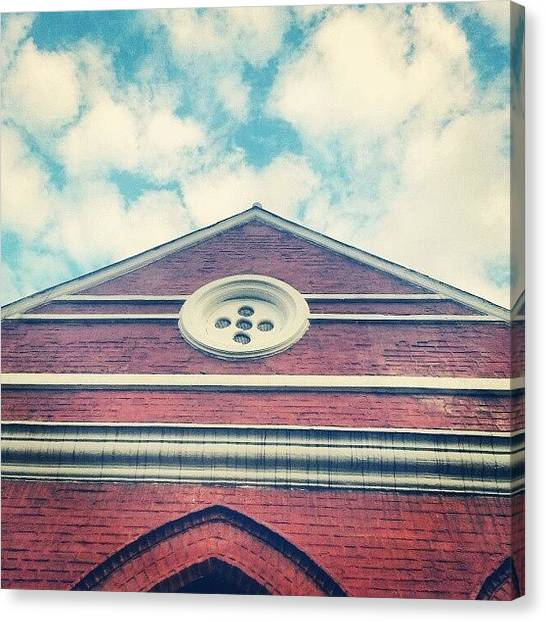 Om Canvas Print - Did You Pray Today? #saintandrewchurch by Om Bhatia