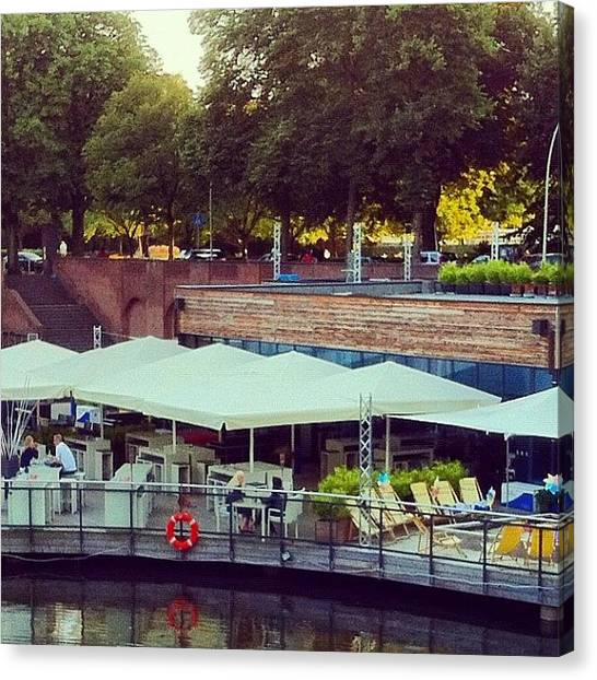 Lounge Canvas Print - Die Bucht #lounge #bar #canal  #people by Valnowy Photography