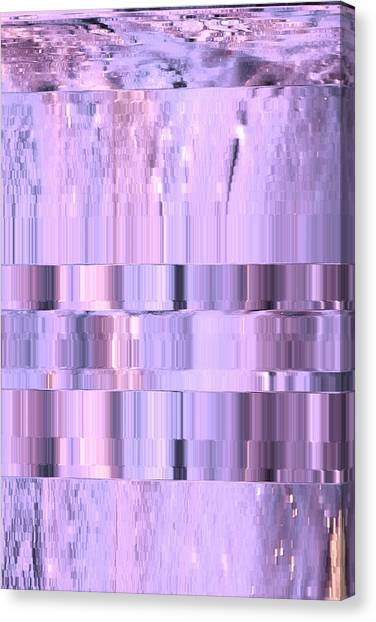 Digitized Purple Canvas Print by Colleen Cannon
