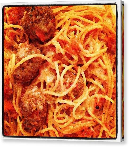 Spaghetti Canvas Print - #dinner For #today?... #spaghetti #with by Kelly Custodio Almulla