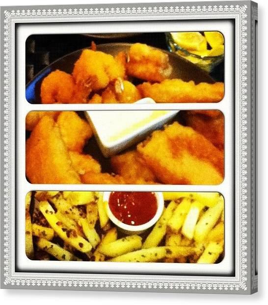 Seafood Canvas Print - Dinner Last Night By @patriciasotto by Shane Austin Garcia Urbano
