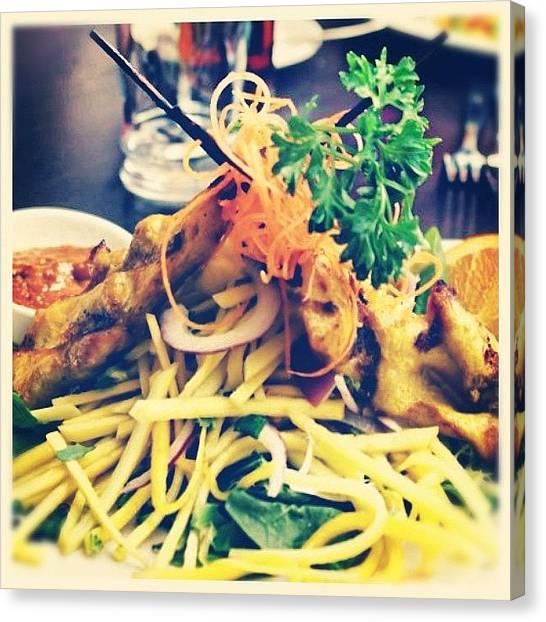 Mangos Canvas Print - #dinner #mango #chicken #delightful by Christinaashley Huynh