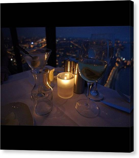 Martini Canvas Print - Dinner On The 95th Floor by Gilberto Bernal