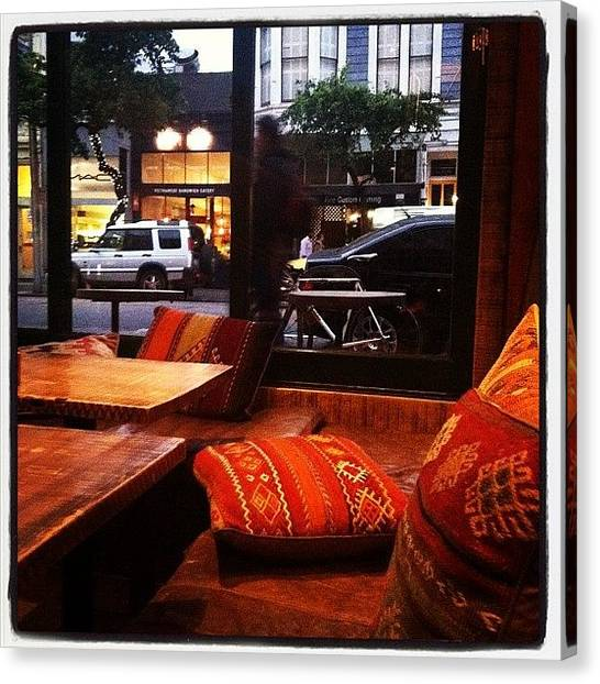 Lounge Canvas Print - Dinner W/ @kevruger #filmore #food by Jax Ram