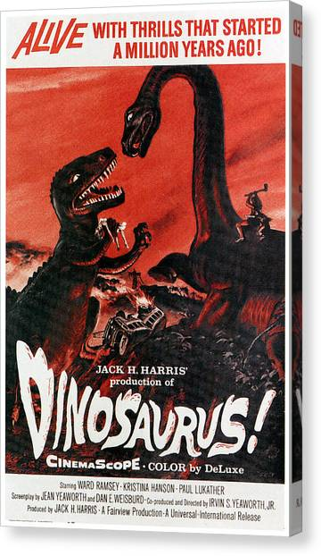 Brontosaurus Canvas Print - Dinosaurs, 1960 by Everett