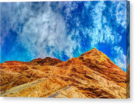 Dirt Mound And More Sky Canvas Print