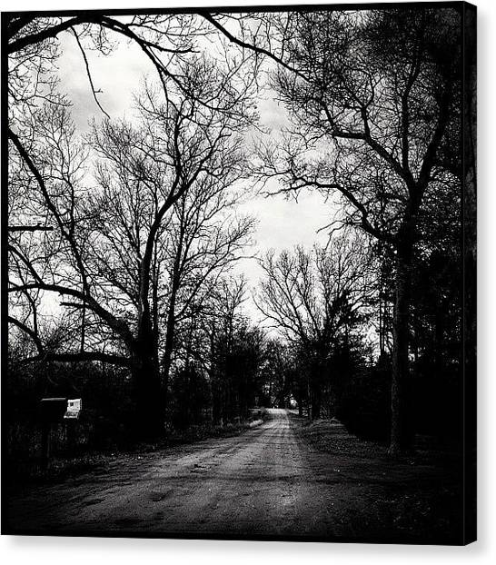 Dirt Road Canvas Print - #dirt #road #country #michigan #parked by Meeshi Sense