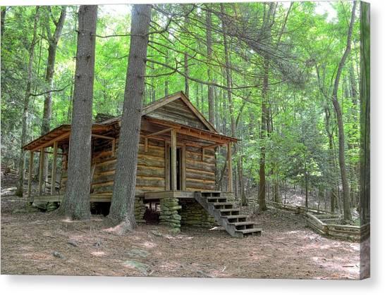 Disharoon Cabin Canvas Print by Bob Jackson