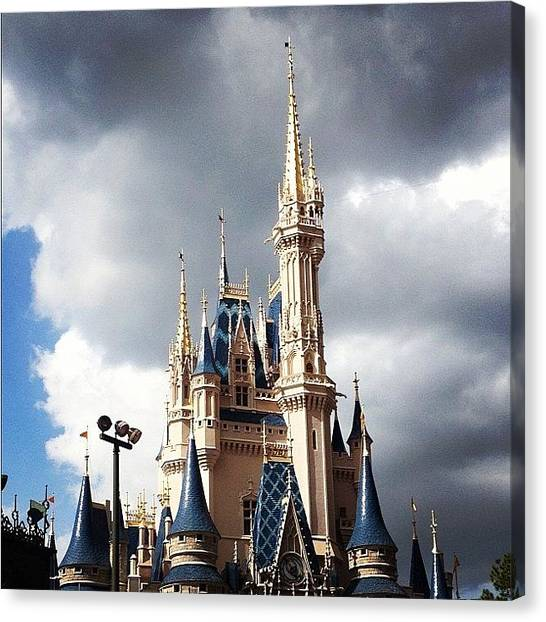 Princess Canvas Print - Disney Castle #princess #castle #disney by Ashley Balconis