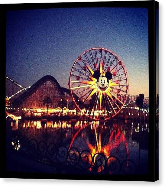 Soda Canvas Print - Disney Land Reflection by Soda Love