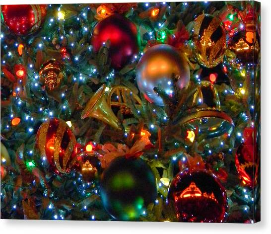 Disneyland Christmas Ornaments Canvas Print by Daniel Dodd - Disneyland Christmas Ornaments Photograph By Daniel Dodd
