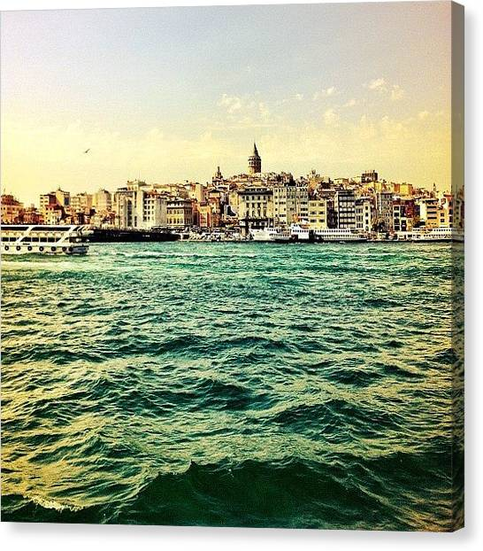 Yachts Canvas Print - Distant City by George Saad