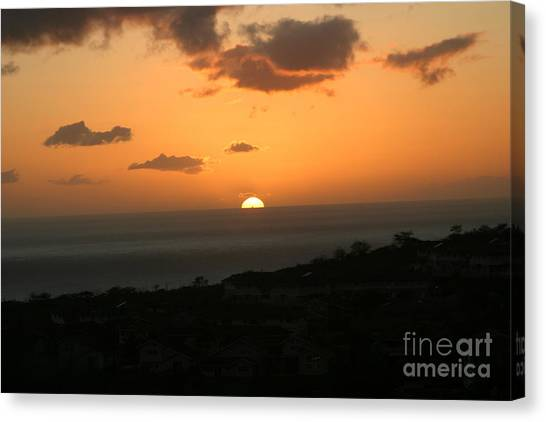 Distant Sunset Canvas Print