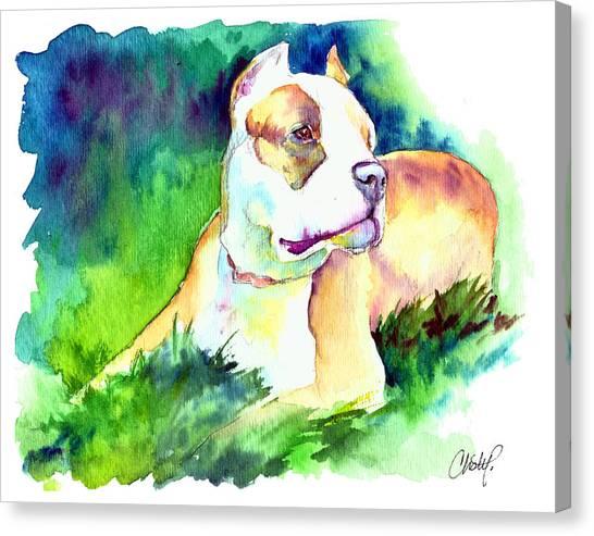 Diva Momma Pit Bull Canvas Print