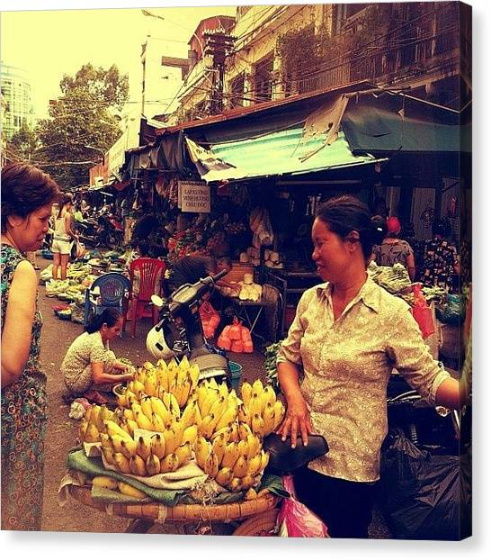 Vietnamese Canvas Print - Do U Want Some Banana? by Fazwan Nordin