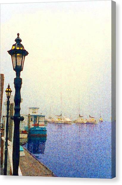 Dock At Newburyport Harbor Canvas Print