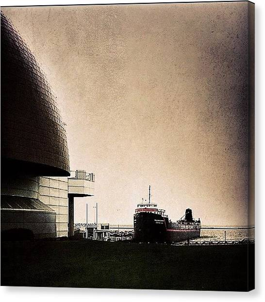 Science Canvas Print - Docked by Matthew Barker