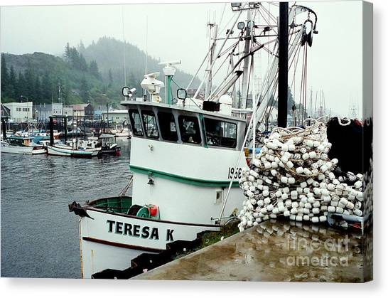 Dockside Canvas Print by Frank Townsley