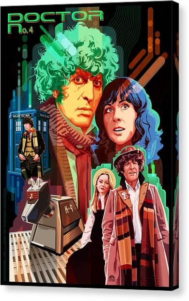 Tardis Canvas Print - Doctor Who Number Seven by Garth Glazier
