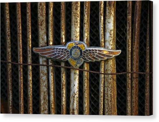 Dodge Brother Emblem Canvas Print by Penny  Ryan
