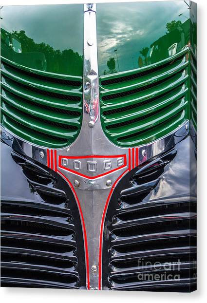 Dodge Grill Canvas Print by Ursula Lawrence