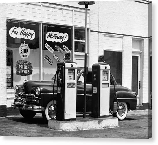 Dodge In Service Station Canvas Print by George Marks