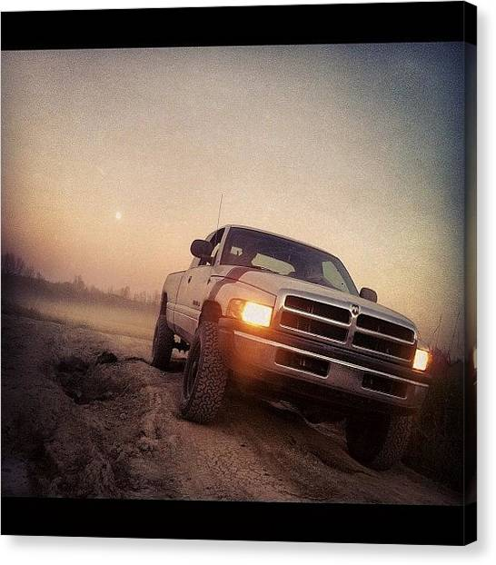 Offroading Canvas Print - Dodge #offroad #birthday #vodka #polish by Sam Sana