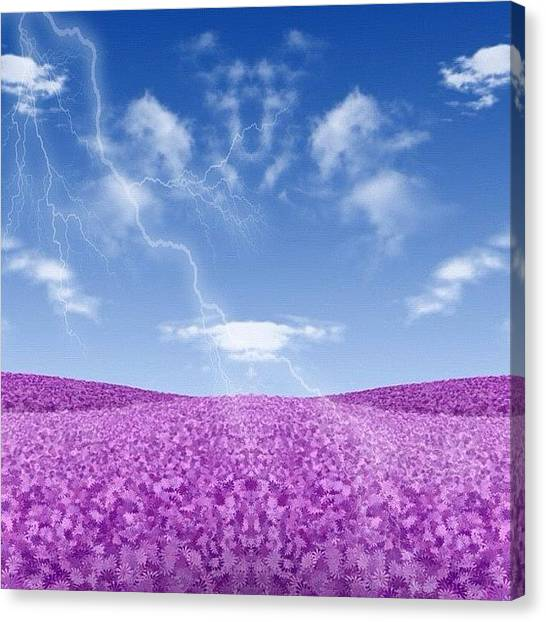 Lightning Canvas Print - Dog #cloud? by Phil Matson