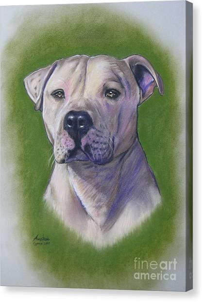 Dog Portrait Canvas Print by Anastasis  Anastasi